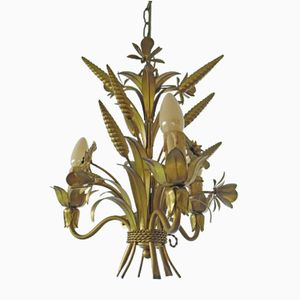 Italian Hollywood Regency Wheat Sheaf Chandelier, 1960s