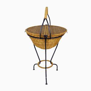 French Wicker Basket, 1950s