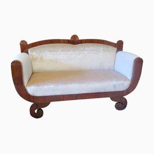 Biedermeier Walnut Sofa, 1820s