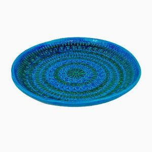Rimini Blue Fruit Bowl by Aldo Londi for Bitossi