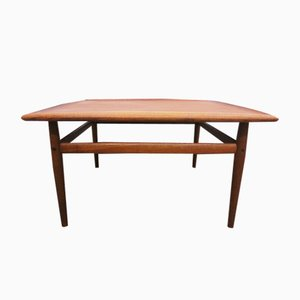 Large Danish Teak Coffee Table by Grete Jalk for Glostrup