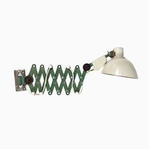 German Green Scissor Lamp from Reif, 1960s