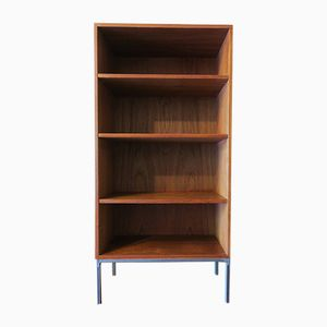 Vintage Danish Teak Bookshelf with Steel Feet from Bramin