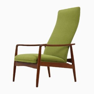 Mid-Century Reclining Lounge Chair by Søren Ladefoged, 1960s