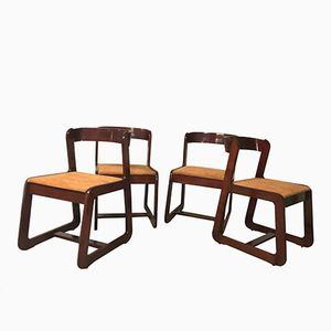 Chairs by Willy Rizzo for Mario Sabot, 1970s, Set of 4