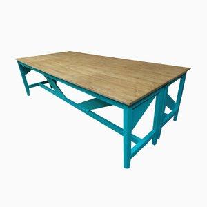 Industrielle Tische mit Lackiertem Gestell, 1910er, 2er Set