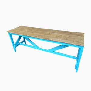 Large Industrial Table with Painted Base, 1910s