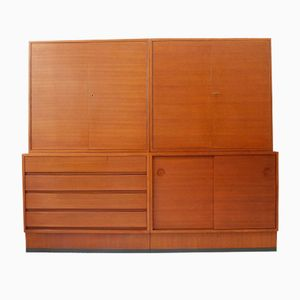 German Wall Unit in Teak from Combio, 1960s