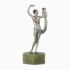 Austrian Art Deco Bronze Figure by Lorenzl, 1920s