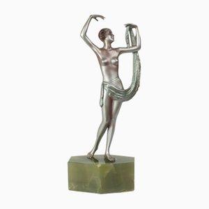 Statue Art Déco en Bronze par Lorenzl, Autriche, 1920s