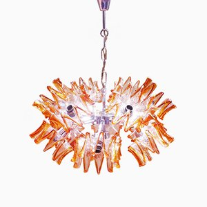 Mid-Century Sputnik Flower Chandelier in Murano Glass from Mazzega, 1960s