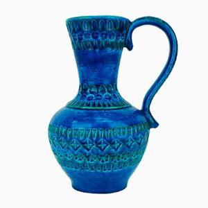Italian Rimini Blu Vase by Aldo Londi for Bitossi, 1960s