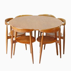 Teak Dining Room Set by Hans Wegner for Fritz Hansen, 1952