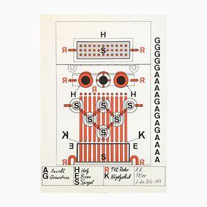 Serigraphie von Guido Jendrytzko, 1969