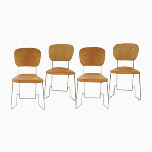 Vintage Alu-Flex Chairs by Armin Wirth for Hans Zollinger Söhne, Set of 6