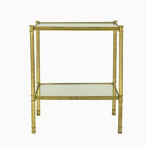 Italienische Messing & Glas Beistelltische, 1960er, 2er Set