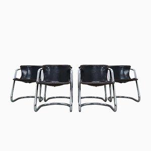 Mid-Century Esszimmerstühle von Willy Rizzo für Cidue, 6er Set