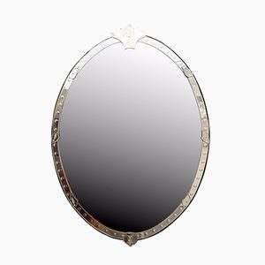 Sehr Großer Venezianischer Ovaler Spiegel