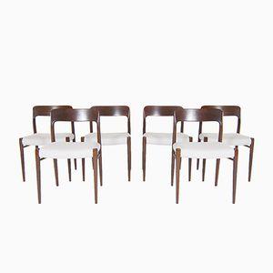 Vintage Esszimmerstühle von Niels Otto Møller für J.L. Möller Møbelfabrik, 6er Set