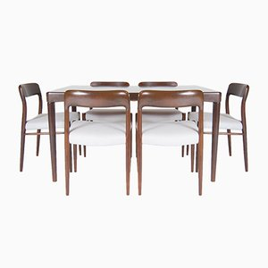 Mid-Century Teak Dining Table by Henry. W. Klein for Bramin