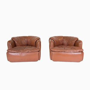 Mid-Century Confidential Arm Chairs by Alberto Rosselli for Saporiti, Set of 2