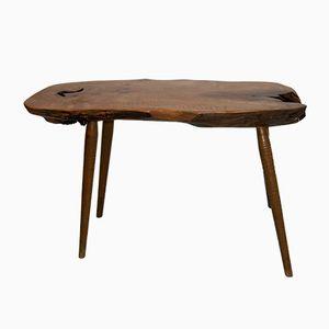 Mid-Century Wood Slab Console Table, 1960s