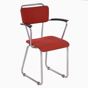 Sedia da scrivania 214 con braccioli di Christoffel Hoffmann per Gispen, anni '50