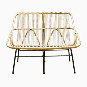 Vintage Rattan Lounge Sofa from Rohé Noordwolde, 1960s