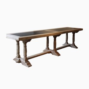 Mid-Century Oak & Slate Dining Table, 1950s