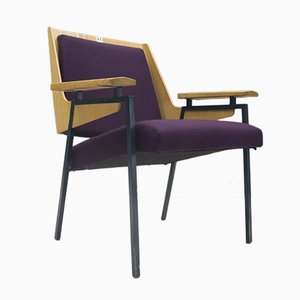 Mid-Century Purple Armchair by Wunibald Puchner for the Meistersingerhalle Nürnberg, 1958