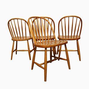 Stühle mit Holzspeichen von Sven Erik Fryklund für Hagafors, 1967, 4er Set