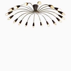 Österreichische Spider Deckenlampe, 1950er