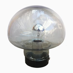 Space Age Mushroom Smoked Glass Table Lamp from Peill & Putzler, 1960s