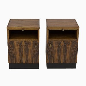 Art Deco Haagse School Nightstands by Paul Bromberg for Pander, 1930s, Set of 2