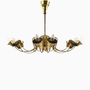 Italienische Vintage Messing Deckenlampe, 1950er