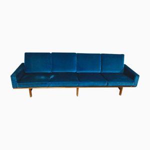 Blaues Vintage 4-Sitzer GE 236/4 Sofa von Hans J. Wegner für Getama