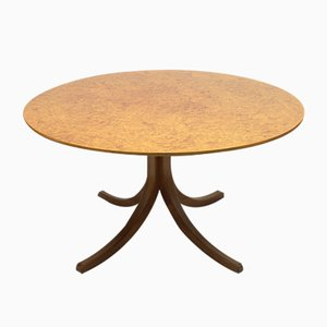 Model 1020 Root Veneer Dining Table by Josef Frank for Svenskt Tenn, 1960s