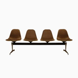 Panca Tandem Seating di Charles Eames per Herman Miller, 1964