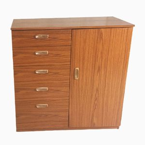 Mid-Century Lacquered Teak Veneer Chest of Drawers from Schreiber, 1970s