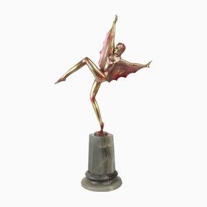 Figurine Art Déco en Bronze par Josef Lorenzl, Autriche, 1925