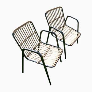 Französische Mid-Century Stühle aus Bambus & Rattan, 1950er
