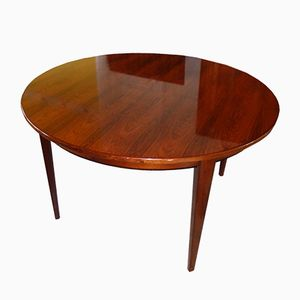 Round Rosewood 55 Dining Table by Gunni Omann, 1960s