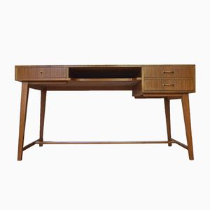 Mid-Century Walnut Desk by Georg Satink for WK Möbel, 1950s