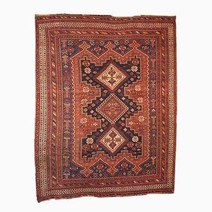Antiker Persischer Handgeknüpfter Afshar Teppich, 1880er