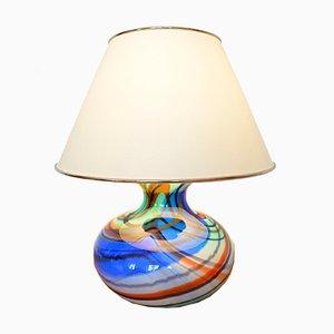 Lampada da tavolo vintage in vetro di Murano, anni '70