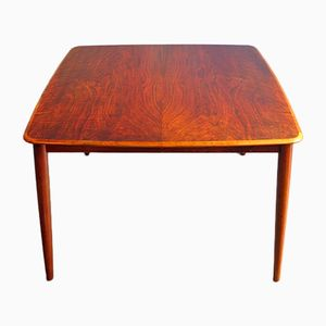 Vintage Rosewood Dinning Table with Two Extensions by Henry Rosengren Hansen for Brande Møbelindustri