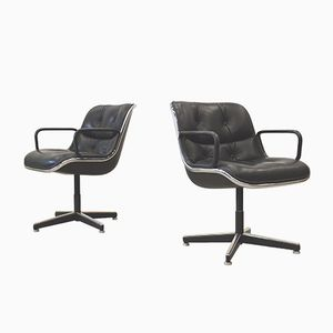 Office Chairs by Charles Pollock for Knoll, 1970s, Set of 2