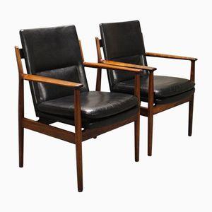 Modell 431 Armlehnstühle von Arne Vodder für Sibast, 1960er, 2er Set
