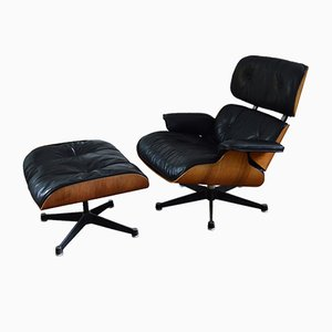 Lounge Chair with Ottoman by Charles & Ray Eames for Herman Miller, 1970s