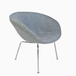 Dänischer Mid-Century Pot Chair von Arne Jacobsen für Fritz Hansen, 1950er
